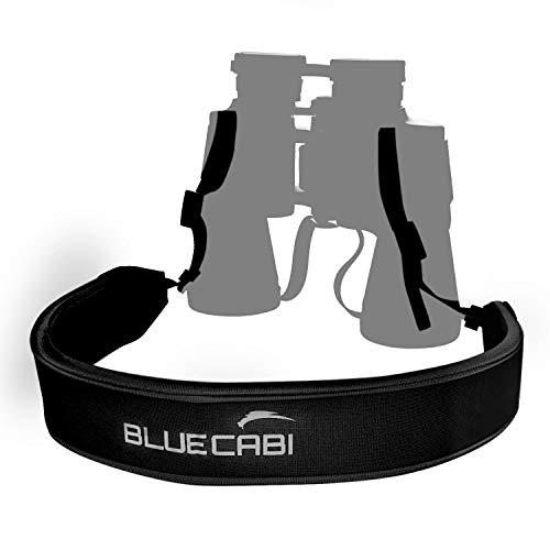 BlueCabi Neoprene Neck Strap for Cameras and Binoculars - Wide Comfortable Unisex Adjustable Anti-Slip Neck/Shoulder Belt Strap - Perfect for Binoculars, Rangefinders and DSLR Cameras - Black