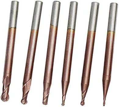 SHENYUAN 2 Flute End Mill CNC Ball Nose End Mill HRC 50 Router Bits TiCN Coating R0.5-6.0 Tungsten Carbide Engraving Milling Cutter (Size : R5xD10x75L)
