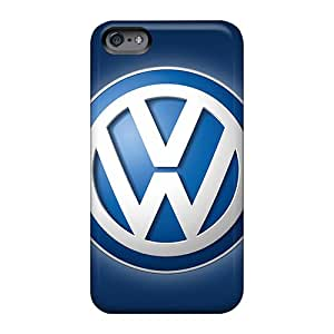 Shock Absorption Hard Cell-phone Case For Apple Iphone 6 With Unique Design Nice Volkswagen Logo Series TammyCullen