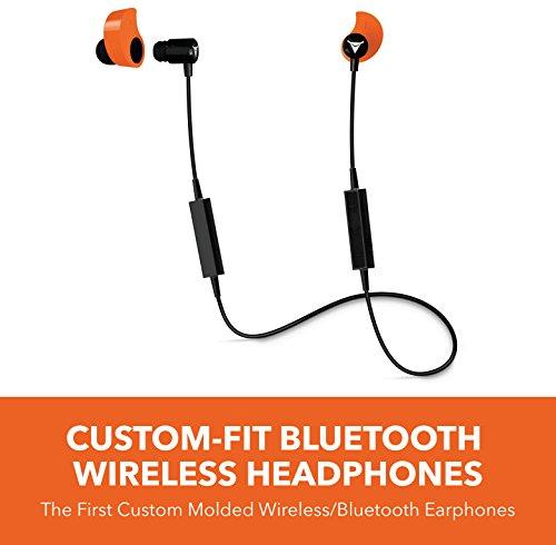 - Decibullz - Custom-Fit Bluetooth Wireless Headphones, The First Custom Molded Wireless/Bluetooth Earphones (Orange)