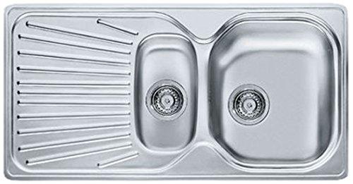 Franke 101.0067.199 MOL 651 Stainless Steel Single/Half Bowl Kitchen Sink - Grey by FRANKE by Franke