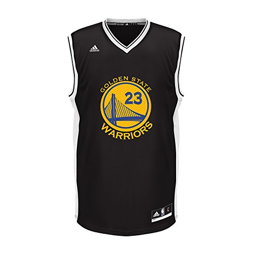 adidas NBA Golden State Warriors Draymond Green #23 Chevron Fashion Replica Jersey, Black, Large by adidas