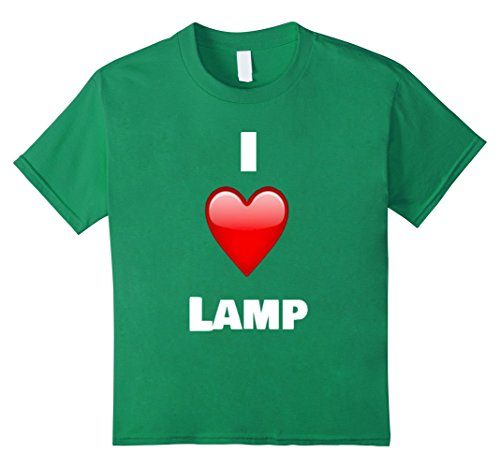 Price comparison product image Kids I Love Lamp Shirt - Funny T-Shirt 8 Kelly Green