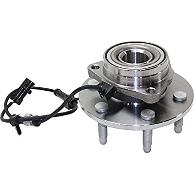 Evan Fischer Front Wheel Hub and Bearing Assembly with ABS Sensor (Set of 2) Compatible with Chevy GMC Cadillac SUV Truck 4X4 or 4WD Only - fits Left and Right Side: Automotive