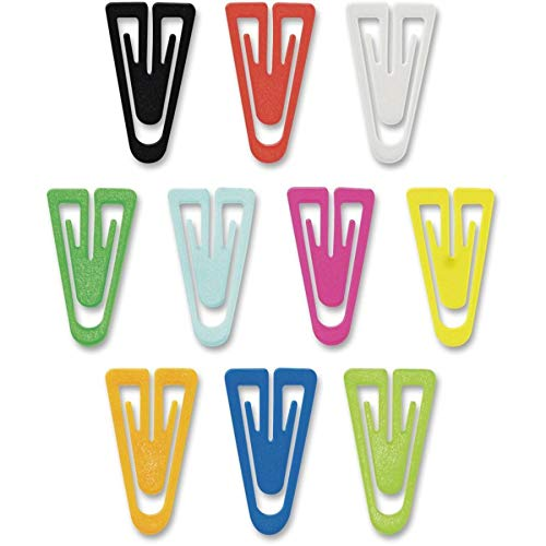 Advantus PC0600 Paper Clips, Plastic, Large (1-3/8