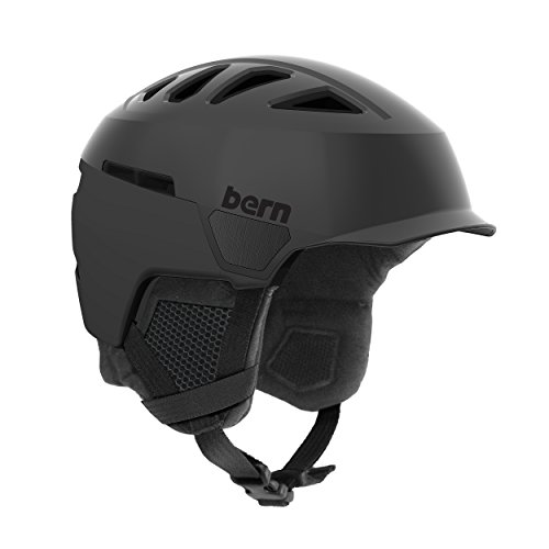 Bern Men's Heist Brim Helmet (Satin Black with Black Liner, Medium)