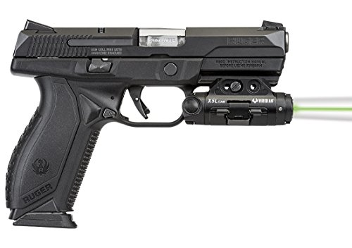 VIRIDIAN WEAPON TECHNOLOGIES, X5L Gen 3 Universal Green Laser, 500 Lumens Tactical Light and HD Camera, Black, Fits: Most Full-Size Handguns and Rifles