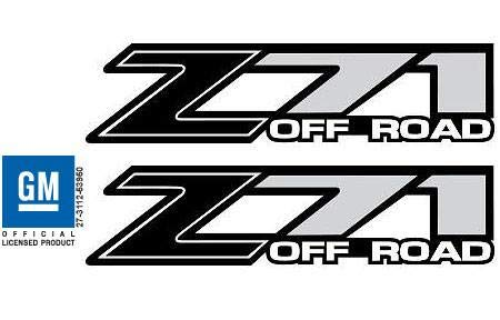 Chevy Silverado Z71 Off Road Black Decals Stickers - FB (2001-2006) Bed Side 1500 2500 HD (Set of 2) ()