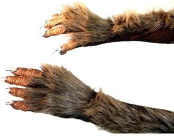 PARTY DISCOUNT Handschuhe Werwolf mit Pl/üschhaar