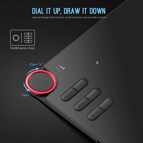 Drawing Tablet, XP-PEN DECO-03 Wireless Graphic Tablet with 8192 Level Pen, Dial Knob, 6 Express Keys Work with Adobe PS, AI, SAI, Painter, Zbrush, Krita, Gimp on Windows Mac