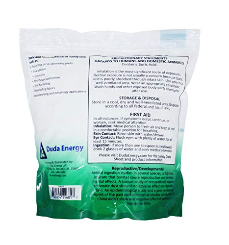 25 lb Fine Powder Boric Acid H3BO3 99.9+% Pure Orthoboric Acid