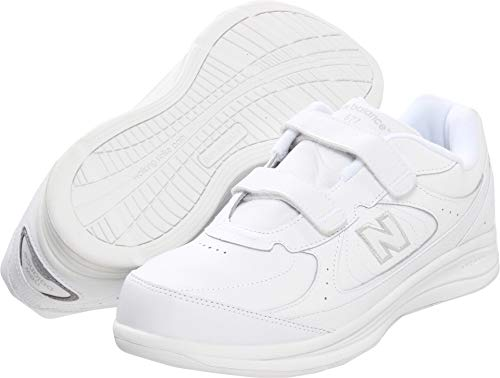 - New Balance Men's MW577 Hook and Loop Walking Shoe,  White, 13 XW US