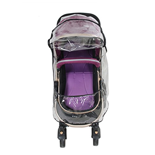 Universal Baby Stroller Raincover Buggy Pushchair Stroller Pram Transparent Rain Cover Waterproof Umbrella Stroller Wind Dust Shield Cover for Strollers by JINTN (Image #3)