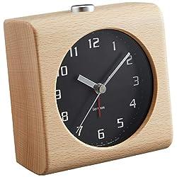 Lemnos Men's Block Alarm Clock, Black, One Size