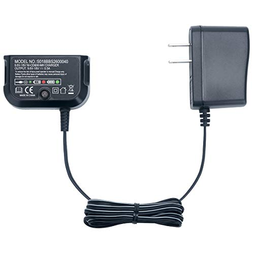 Elefly Multi-Volt 12V 14.4V 18V 90556254-01 Replacement Charger for Black&Decker 9.6V-18V NiCad & NiMh Battery HPB18 HPB18-OPE HPB12 HPB14 HPB96 FS12B FSB14 FSB18 FSB96 US Plug