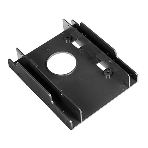 WDX SSD HDD Plastic Mounting Bracket Adapter Hard Drive Holder for PC,Convert Any 2 x 2.5 inch Solid State Drive/HDD Into a 3.5 inch Drive - Carrier Hdd 2.5 Inch
