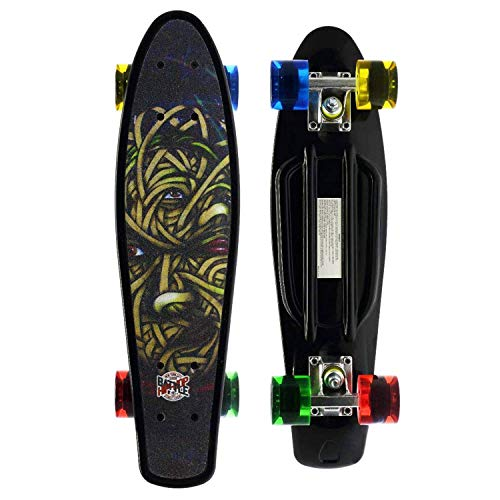 Merkapa Complete 22 inch Cruiser Skateboard for Youth, Beginners (Whirlpool)