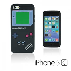 OnlineBestDigital - Apple iPhone 5C Gameboy Style Silicone Skin Case / Cover / Shell - Black