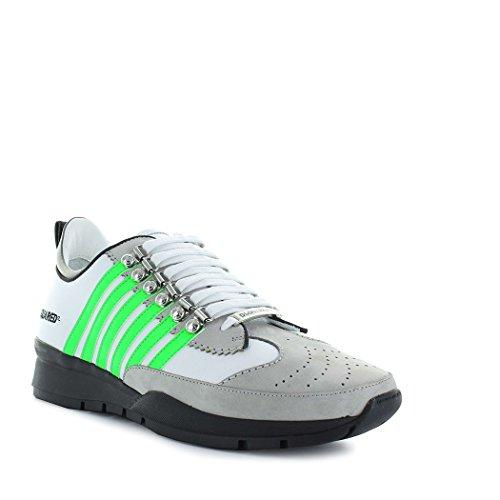 Dsquared2 Herren Snm010101500457m243 Weiss Leder Sneakers