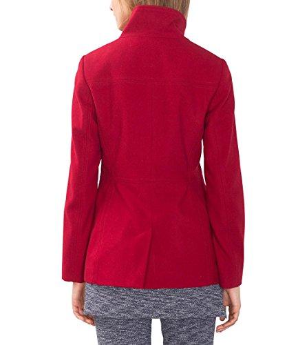 ESPRIT Mit Großem Kragen, Chaqueta para Mujer Rojo (RED 630)