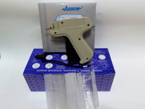 Garment CLOTHING PRICE LABEL TAGGING TAGGER GUN WITH 5000 pins barbs FASTENER 3'' by Arrow