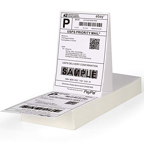"[1 Stack, 500 Labels] Fanfold 4"" x 6"" Direct Thermal Labels, 500 Labels Total for Thermal Printers - Zebra Compatible"