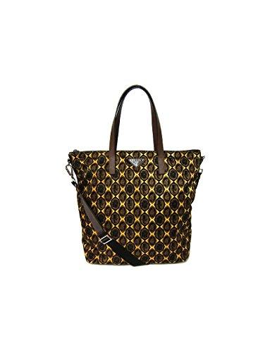 Prada Printed Nylon Tote - Giallo Cornici (Prada Womens Nylon Handbag)