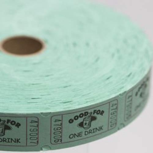 Green Good For One Drink Ticket Roll for $<!--$7.95-->