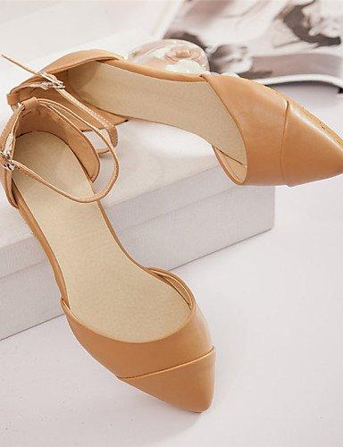amarillo señaló eu39 cn39 casual PDX Flats uk6 oficina plano de us8 vestido y mujeres zapatos Beige Toe yellow rosa las carrera talón Y61xnO6g