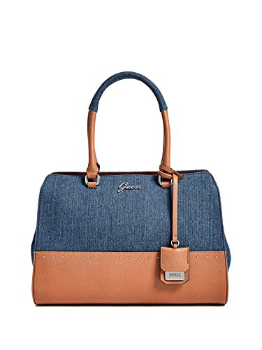 GUESS Factory Women's Out And About Denim Satchel
