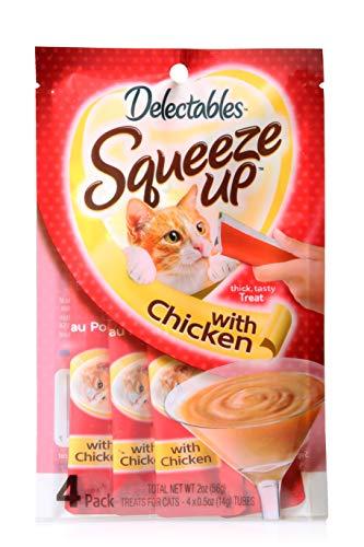 Delectables Squeeze Up Interactive Wet Cat Treats - Chicken - 32 Count