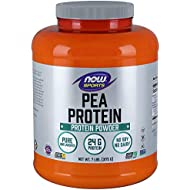 NOW Sports Nutrition, Pea Protein 24 G, Fast Absorbing, Unflavored Powder, 7-Pound