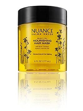 Nuance Salma Hayek Buriti Oil Nourishing Hair Mask with Buriti, Coconut, Jojoba and Jasmine Oils – 6 Fl Oz