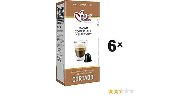Capsulas Compatibles Nespresso - Cafe Cortado con Leche - 60 ...