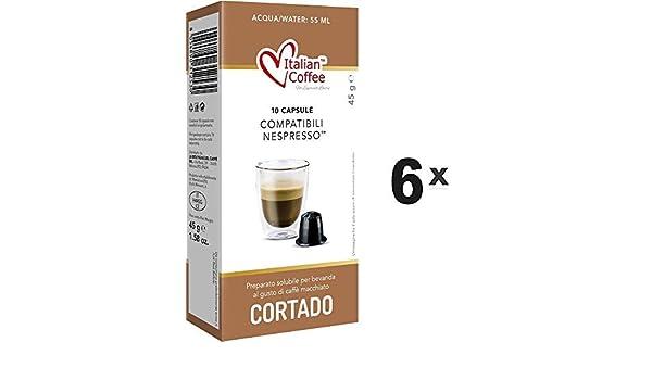 Capsulas Compatibles Nespresso - Cafe Cortado con Leche - 60 Bebidas: Amazon.es: Alimentación y bebidas