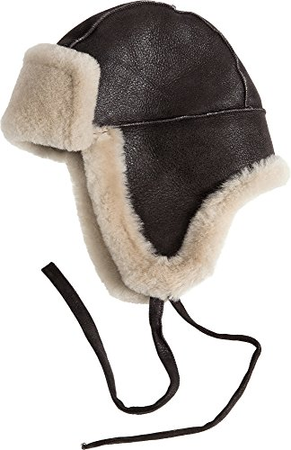 Overland Sheepskin Co B-3 Sheepskin Aviator Hat