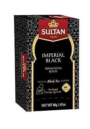 Sultan - Infusión de té Imperial Negra, 20 bolsas ...