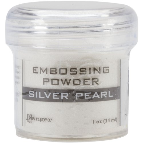 Ranger Embossing Powder, 1-Ounce Jar, Silver Pearl (Best Ink For Embossing Powder)