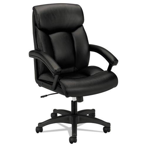 HON VL151SB11 VL151 Series Executive High-Back Chair, Black Leather