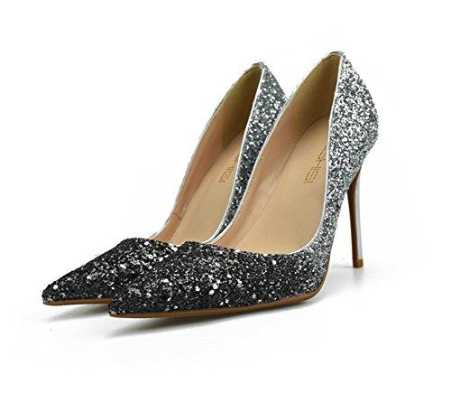 Argent Hauts Talons Mariage De 35 Travail Argent 45 Classique Élégant Zwf Chaussures Taille Partie À Femmes Chaussures Xxq8IT0