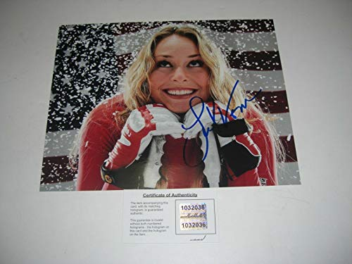 - Lindsey Vonn Winter Olympics Alpine Ski Racer W/holo Signed 8x10 Photo - Autographed Olympic Photos