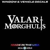 Mildred Rob Valar Morghulis Game of Thrones Decal Car Window Toolbox and Laptop Sticker