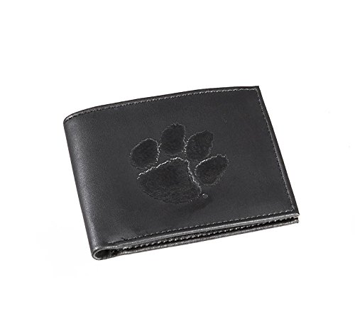 Team Sports America Leather Clemson Tigers Bi-fold Wallet