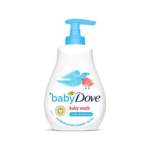 Baby Dove Rich Moisture Hair To Toe Baby Wash, Tear Free, Hypoallergenic, No Parabens, No Sulphates, No Phthalates, 400