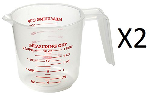 Norpro 2 Cup Measuring Cup Clear with Handle & Spout 1 Pint/