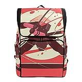 CANCAKA Backpack Japanese Battle Samurai Katana National Martial Lightweight Travel Bag Hiking Knapsack College Student School Bookbag Travel Daypack for men women