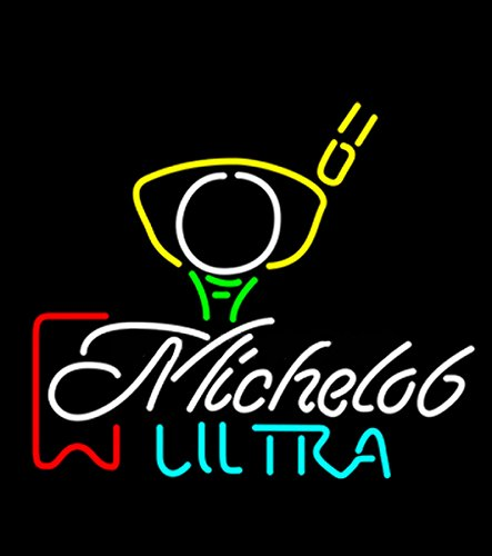 (Michelob Ultra Red Ribbon Pga Golf Neon Sign Neon Light Sign Handicrafted Real Glass Tube17x14)