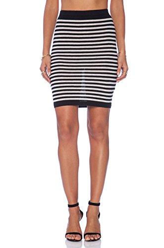 Soft Joie Women's Bethanne Skirt (Small, Caviar/Heather Gray)
