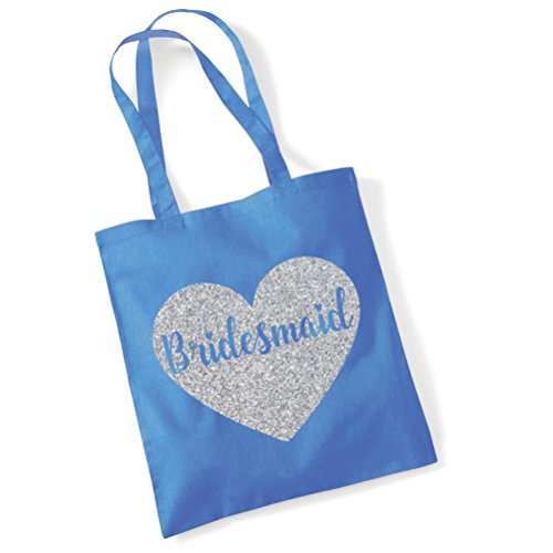 Edward Sinclair Bridesmaid Tote Bag - Wedding Gift Bag/ Hen Do Party Bag Cornflower