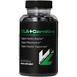 CLA+Carnitine High Potency, Non Stimulant weight Loss Supplement, Conjugated Linoleic Acid, L-Carnitine Metabolic Enhancer, Caffeine Free Fat Burner, Improve Fitness Activity 90 Softgels
